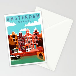 Vintage Amsterdam Holland Travel Stationery Cards
