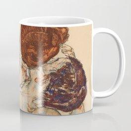 """Egon Schiele """"Mann und Frau, Umarmung"""" Coffee Mug"""