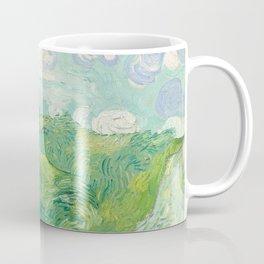 Vincent van Gogh Green Wheat Fields, Auvers 1890 Painting Coffee Mug