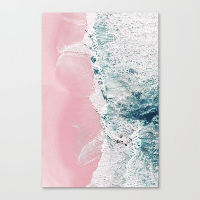 Sea of Love II - Aerial Ocean and Beach photography by Ingrid Beddoes Leinwanddruck