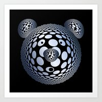 Bubble Bear Art Print