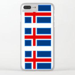 Iceland Sticker Set Clear iPhone Case