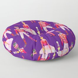 Nutcracker Ballet - Violet Purple Floor Pillow