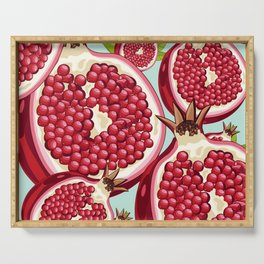 Pomegranate 2 Serving Tray