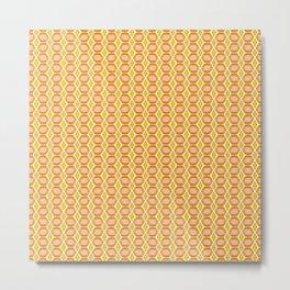 Amber Gold Gemstone Pattern Metal Print