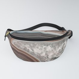 Dragon mouth agate geode Fanny Pack