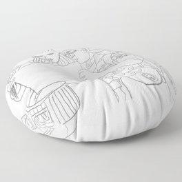 Moonrise Kingdom Sam & Suzy Floor Pillow
