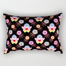 Cute happy winter baby penguins, retro vintage colorful lollipops, sweet candy nursery pattern Rectangular Pillow