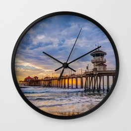 Unsettled Sunset Wall Clock