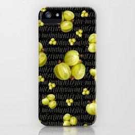 Fresh Green Gooseberry Design iPhone Case