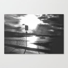 Morning awakes the Harbour Canvas Print