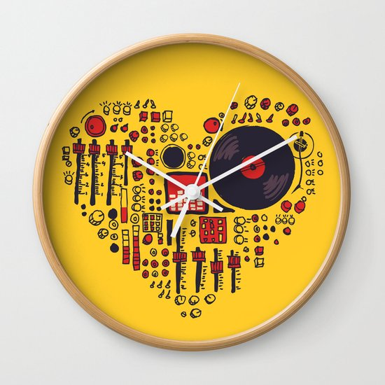 Music in every heartbeat Wall Clock