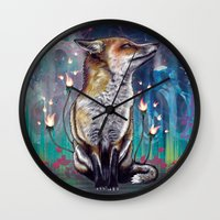 justin timberlake Wall Clocks featuring There is a Light by Mat Miller