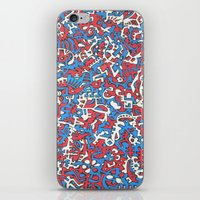 flag iPhone & iPod Skins featuring Flag by Chaospattern