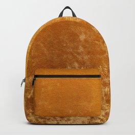 Gold colour velvet fabric background texture Backpack