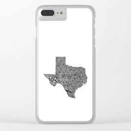 Typographic Texas Clear iPhone Case