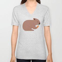 Wombat Loves Carrot I Unisex V-Neck