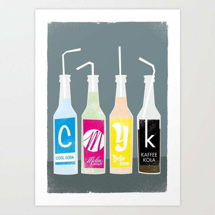 CMYK BOTTLES Art Print