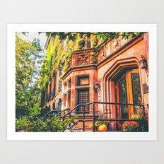 New York City Autumn Pumpkin Art Print