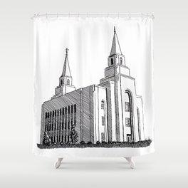 Kansas City LDS Temple Shower Curtain