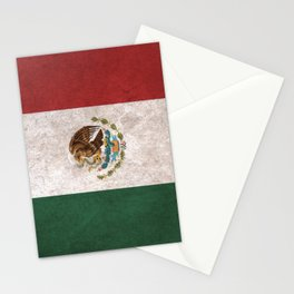Mexico Flag (Vintage / Distressed) Stationery Cards