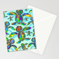 Baby Sea Turtle Fabric Toy Stationery Cards