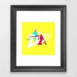 Zas! Framed Art Print