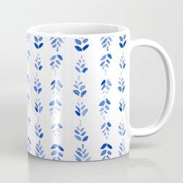 Indigo Blossom - nature watercolour pattern Coffee Mug