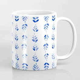 Indigo Blossom - nature watercolour pattern Coffee Mug