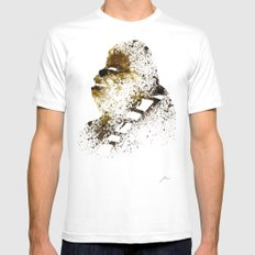 Chewi White MEDIUM Mens Fitted Tee