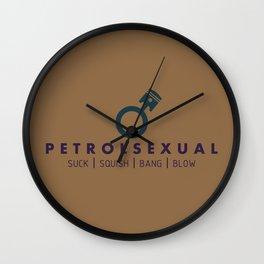 PETROLSEXUAL v4 HQvector Wall Clock