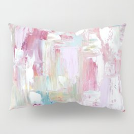 Pink Abstract Painting Pillow Sham