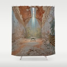 Abandoned Prison Cell Shower Curtain