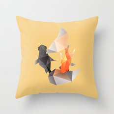 Butterfly Tail Goldfish. Throw Pillow