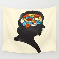 thorin Wall Tapestries featuring Bilbo Phrenology by Wharton