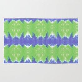 Summer Vibes Tie Dye in Lime Blue Rug