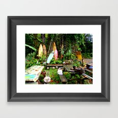Typical Hawaii Pit Stop Framed Art Print