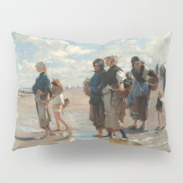 Setting Out to Fish Oil Painting by John Singer Sargent Pillow Sham