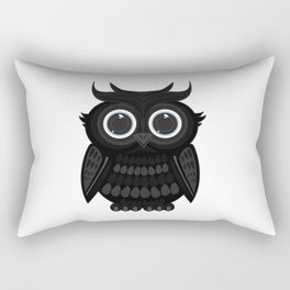 Black Owl Rectangular Pillow