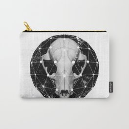 geometric raccoon skull Carry-All Pouch