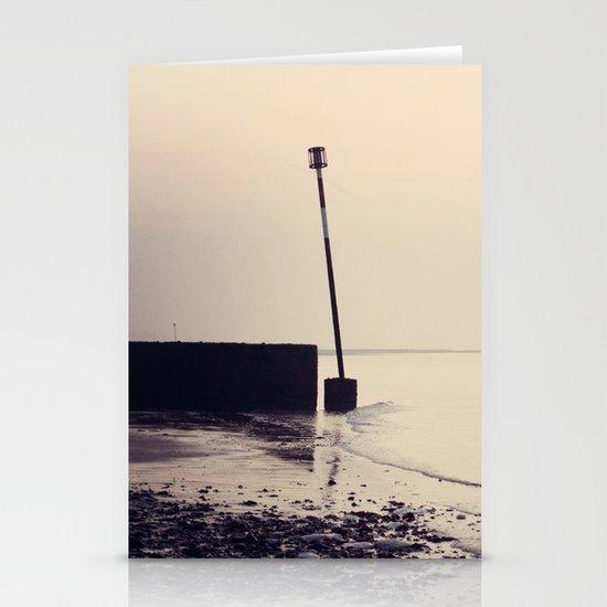 Golden Shoreline Stationery Cards