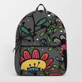 Weird and wonderful (Garden) - fun floral design, nature, flowers Backpack