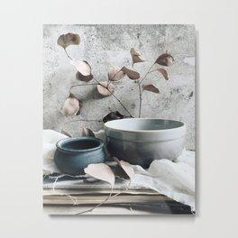 Eucaliptus and bowls Metal Print