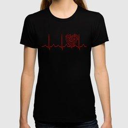 Physics Teacher Heartbeat T-shirt