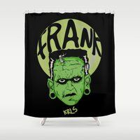 frank Shower Curtains featuring Frank by Thekrls