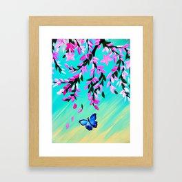 Butterfly Vertical Print Framed Art Print