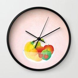 Fruit Bowl Wall Clock