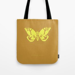 We Must Learn to Help Each Other -Mothra vs. Godzilla Tote Bag