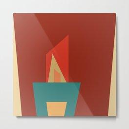 Little Boxes 2, Geometric Shapes Metal Print
