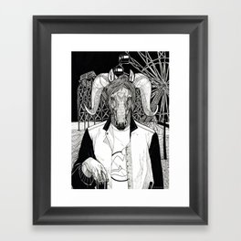 The Cryptids - The Jersey Devil Framed Art Print